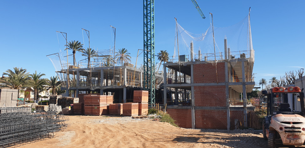 Avanzan a buen ritmo las obras del conjunto residencial de viviendas unifamiliares en Picanya